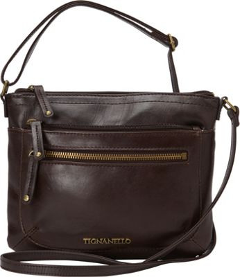 Tignanello Classic Icon Small Function Crossbody with RFID Brown - Tignanello Leather Handbags