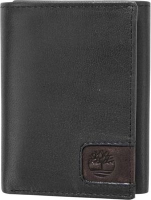 Timberland Wallets Cloudy Logo Tab Trifold Black - Timberland Wallets Men's Wallets