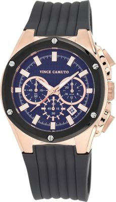 Vince Camuto Watches Multi-Function Silicone Strap Watch Dark Grey/Rose Gold/Dark Grey - Vince Camuto Watches Watches