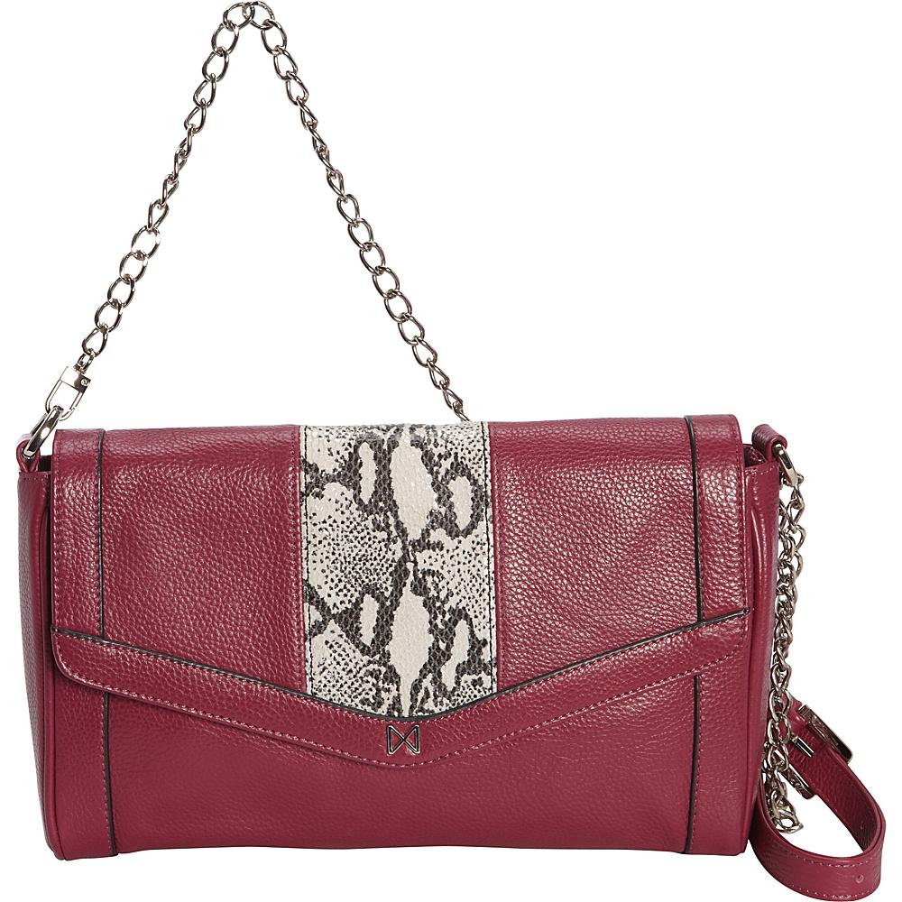 MOFE Pierian Crossbody Orchid Snake Nickel MOFE Leather Handbags