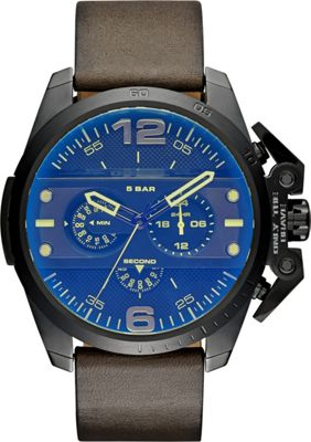 Diesel Watches Ironside Chronograph Leather Watch Green - Diesel Watches Watches