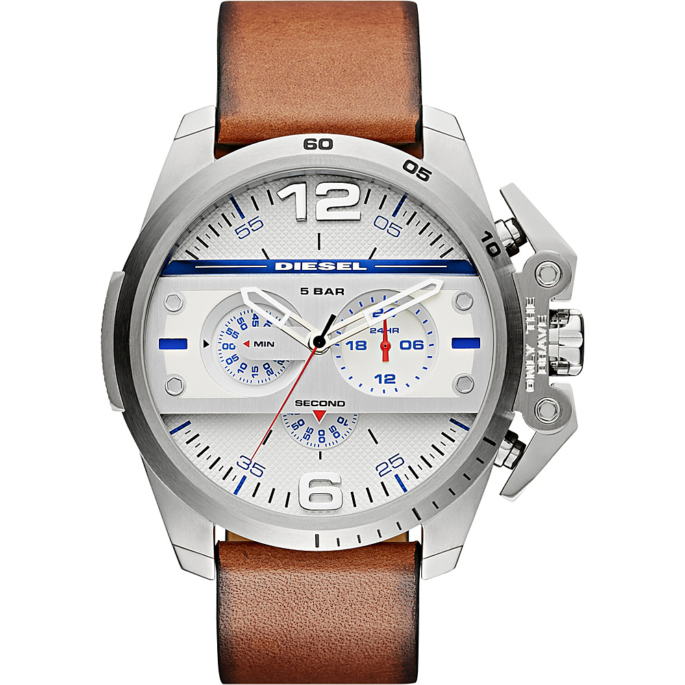 Diesel Watches Ironside Chronograph Leather Watch Brown - Diesel Watches Watches