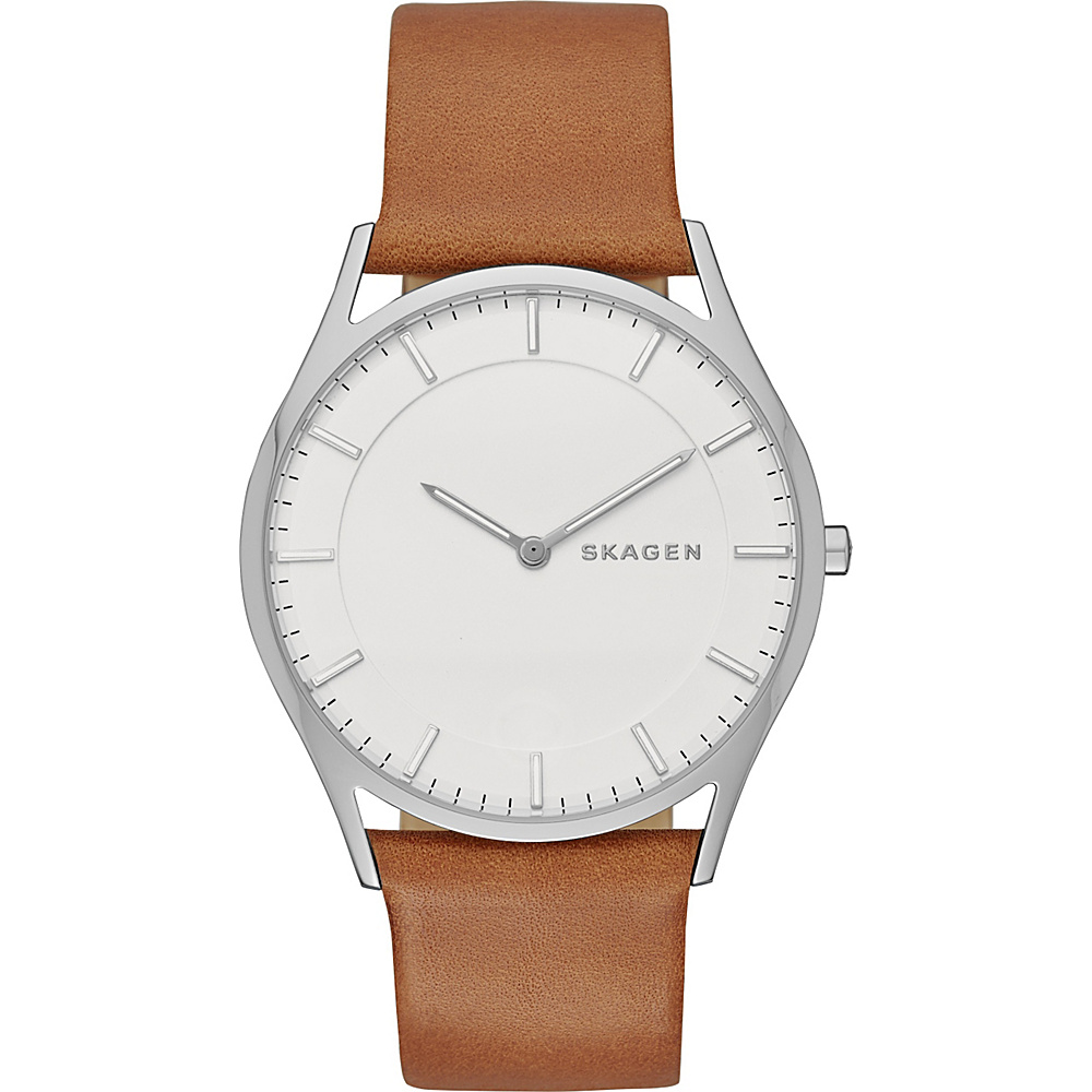 Skagen Holst Slim Leather Watch Light Brown Skagen Watches