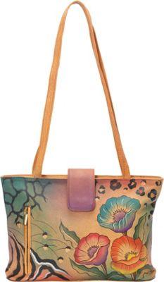 ANNA by Anuschka Medium Tote Animal Floral - ANNA by Anuschka Leather Handbags