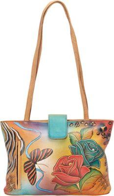 ANNA by Anuschka Medium Tote Rose Safari - ANNA by Anuschka Leather Handbags