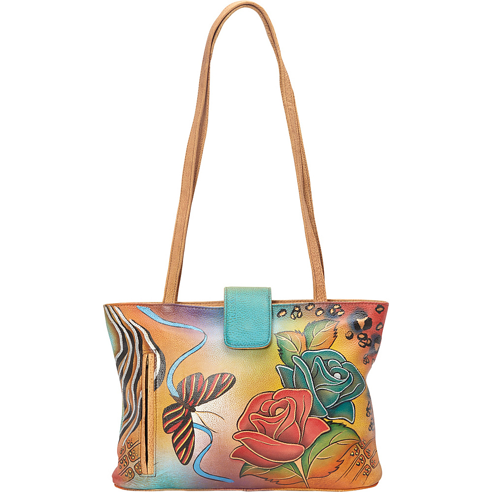 ANNA by Anuschka Medium Tote Rose Safari ANNA by Anuschka Leather Handbags