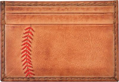 Rawlings Baseball Stitch Card Case Tan - Rawlings Men's Wallets