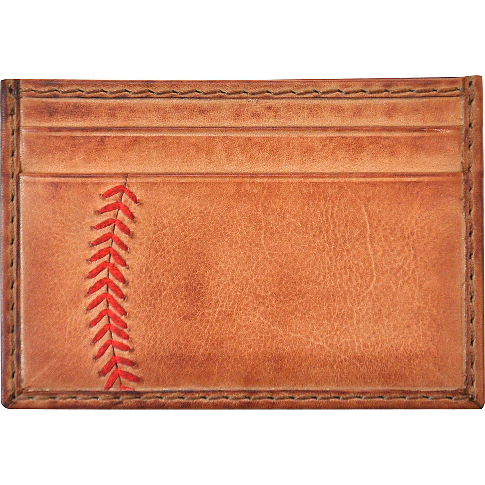 Rawlings Baseball Stitch Card Case Tan Rawlings Men s Wallets