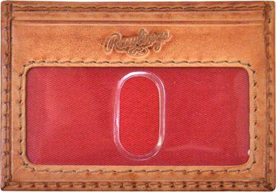 Rawlings Baseball Stitch Card Case Tan - Rawlings Men's Wallets