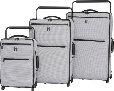 it luggage Worlds Lightest Los Angeles 2 Wheel 3 Piece Set Black/White 2 Tone - it luggage Luggage Sets