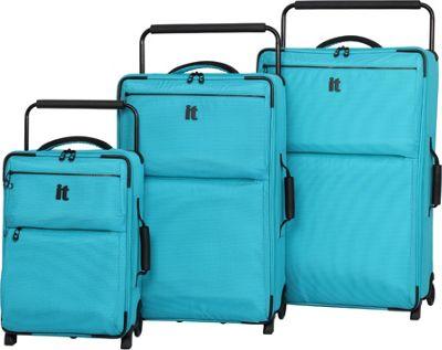 it luggage Worlds Lightest Los Angeles 2 Wheel 3 Piece Set Turquoise 2 Tone - it luggage Luggage Sets