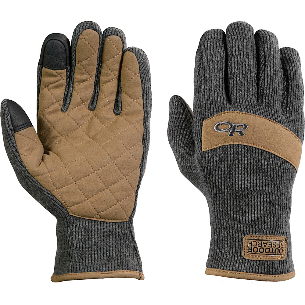 Outdoor Research Exit Sensor Gloves M - Charcoal - Outdoor Research Hats/Gloves/Scarves - Fashion Accessories, Hats/Gloves/Scarves