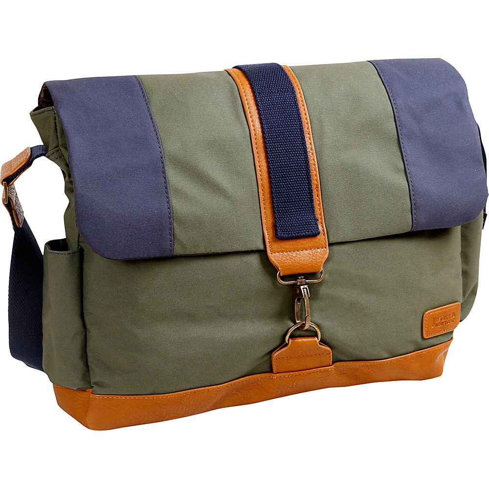 J World New York Sam Canvas Messenger Bag Khaki - J World New York Messenger Bags - Work Bags & Briefcases, Messenger Bags