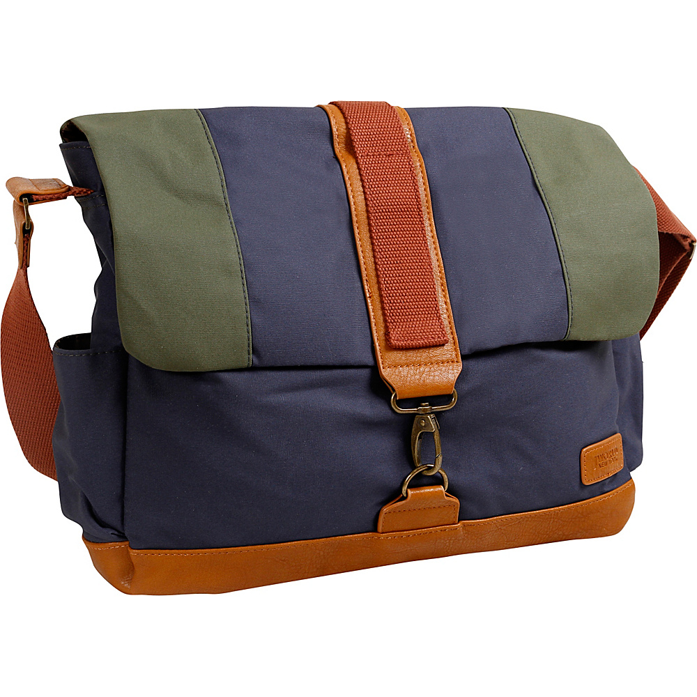 J World New York Sam Canvas Messenger Bag Navy - J World New York Messenger Bags - Work Bags & Briefcases, Messenger Bags
