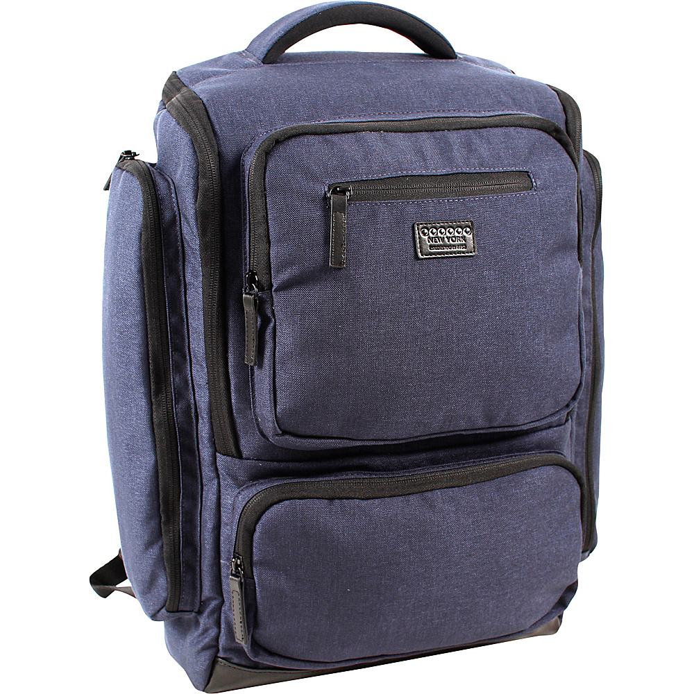 J World New York Novel Laptop Backpack Navy - J World New York Business & Laptop Backpacks - Backpacks, Business & Laptop Backpacks