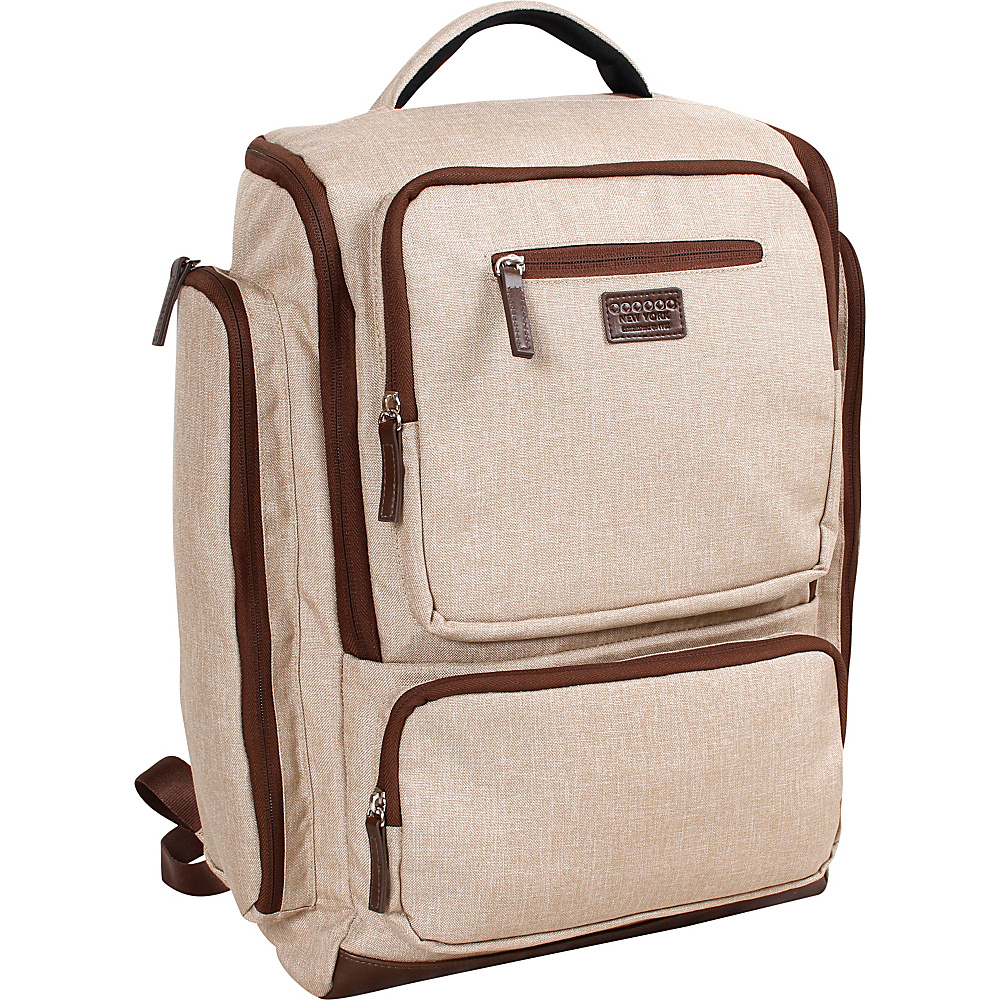 J World New York Novel Laptop Backpack Sand - J World New York Business & Laptop Backpacks - Backpacks, Business & Laptop Backpacks