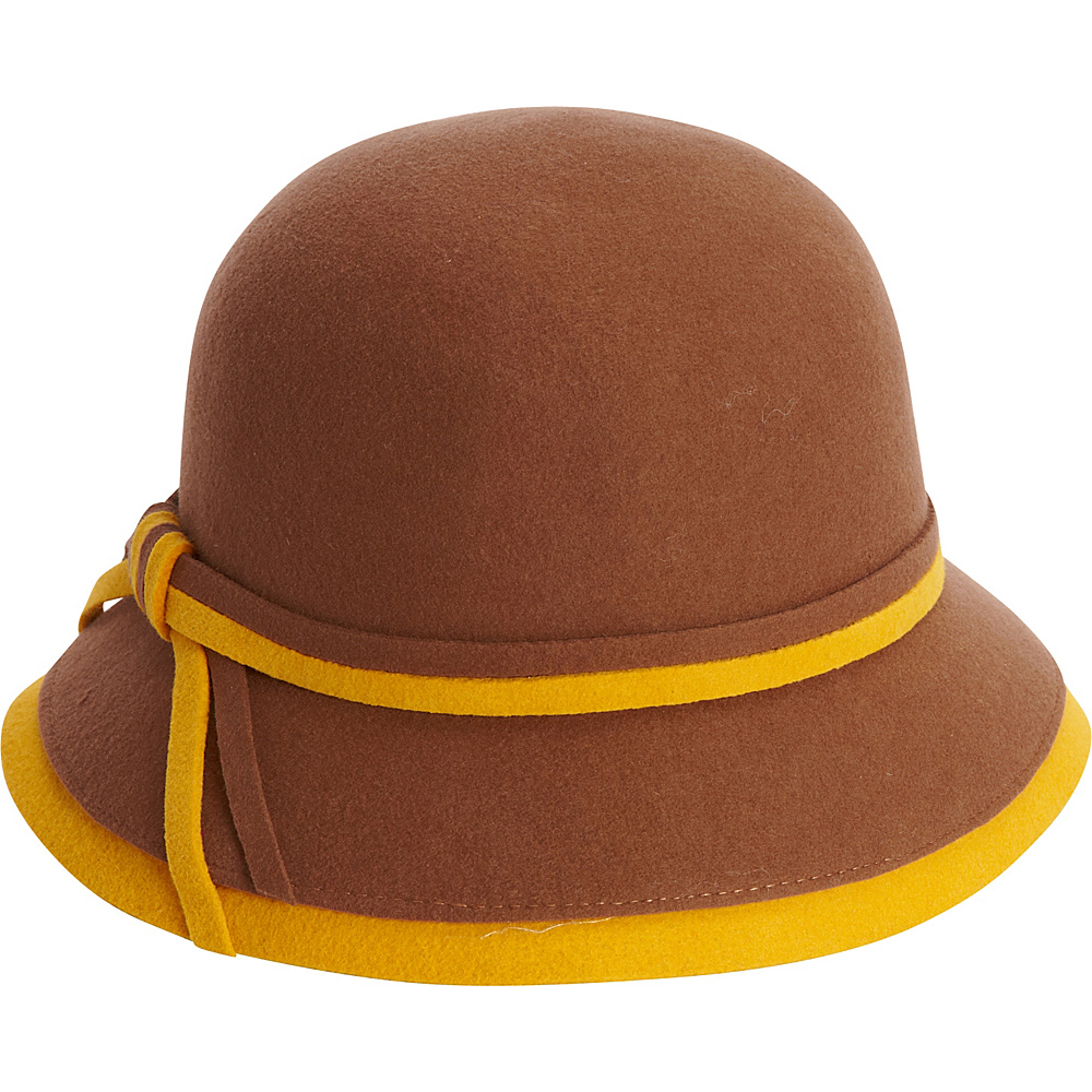 Adora Hats Wool Felt Bucket Hat Pecan Adora Hats Hats Gloves Scarves