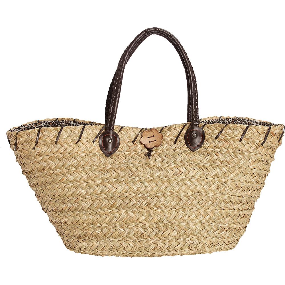 Sun N Sand Sablewood Oversized Shopper Leopard - Sun N Sand Fabric Handbags - Handbags, Fabric Handbags