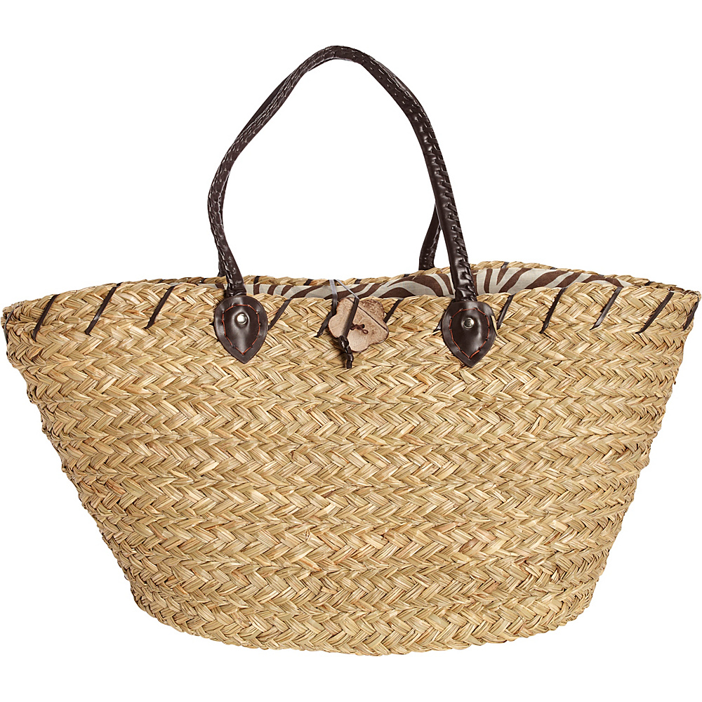 Sun N Sand Sablewood Oversized Shopper Zebra - Sun N Sand Fabric Handbags - Handbags, Fabric Handbags