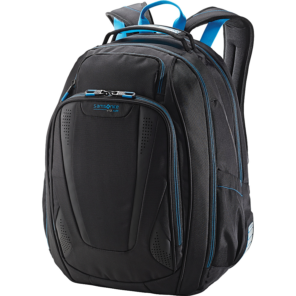 Samsonite VizAir 2 Laptop Backpack Black Electric Blue Samsonite Business Laptop Backpacks