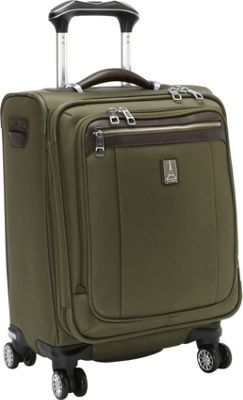 Travelpro Platinum Magna 2 International Expandable Spinner Luggage - 20 inch Olive - Travelpro Softside Carry-On