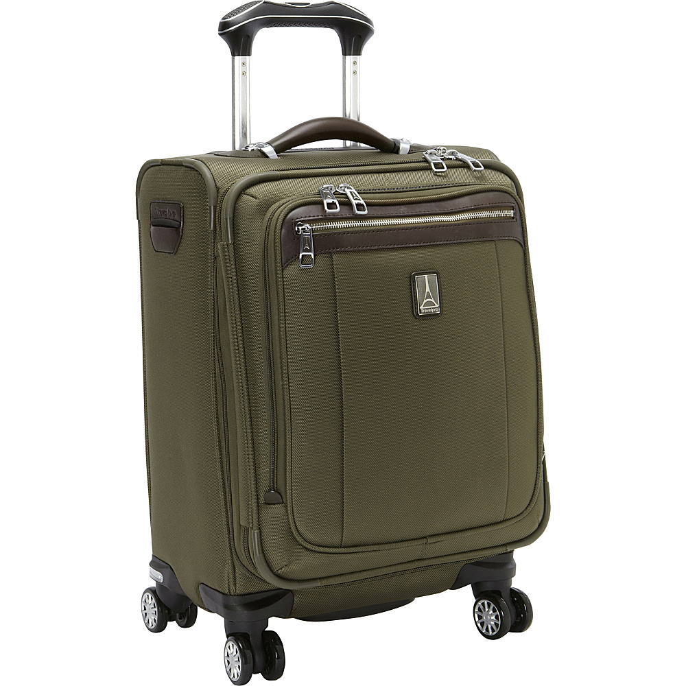 "Travelpro Platinum Magna 2 International Expandable Spinner Luggage - 20"" Olive - Travelpro Softside Carry-On"