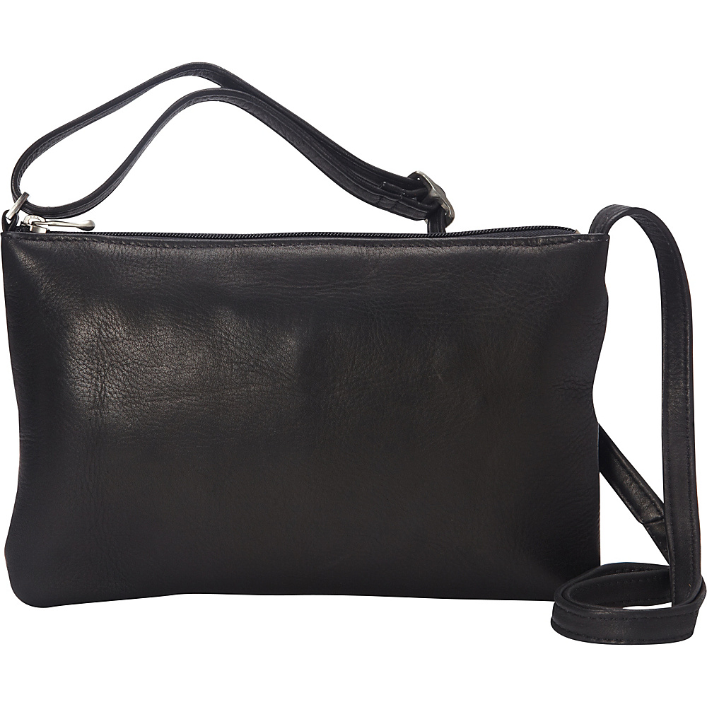 Le Donne Leather Apricot Crossbody Black - Le Donne Leather Leather Handbags - Handbags, Leather Handbags