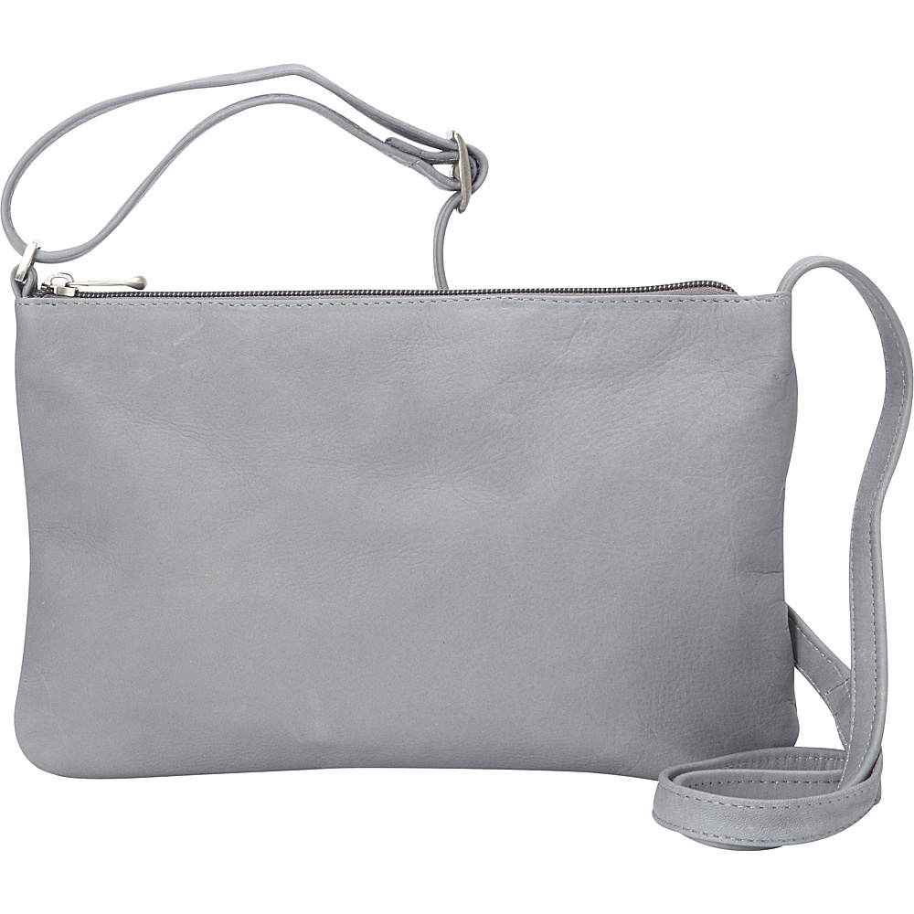 Le Donne Leather Apricot Crossbody Gray - Le Donne Leather Leather Handbags - Handbags, Leather Handbags