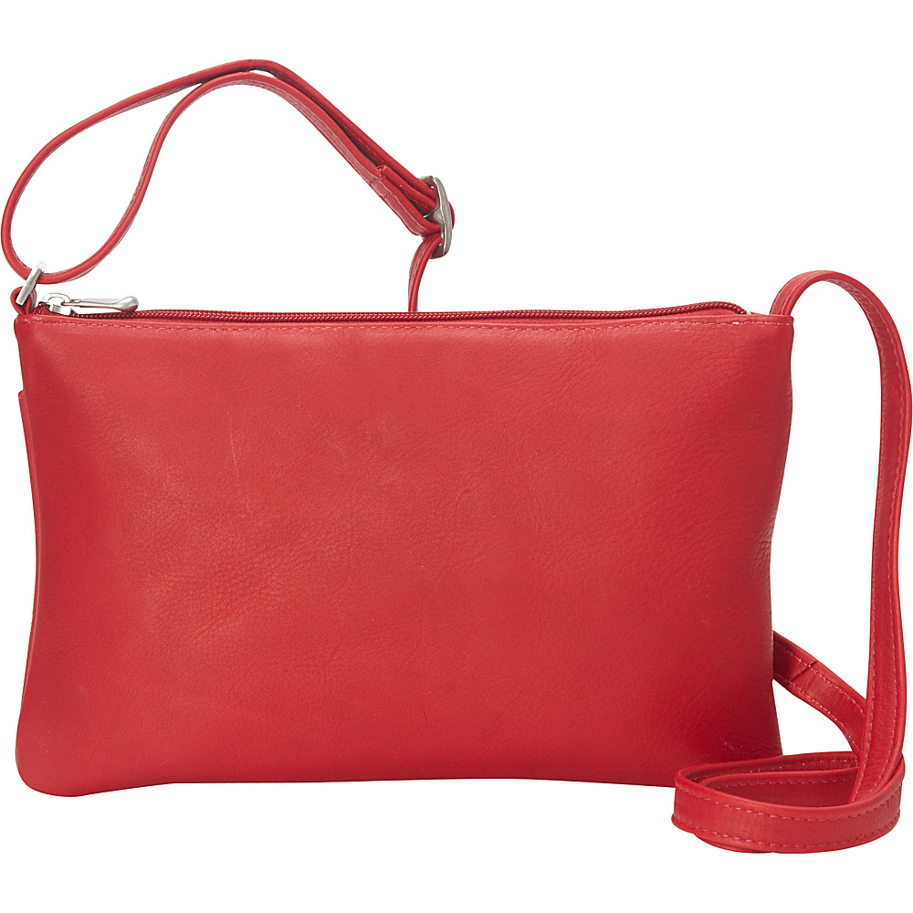 Le Donne Leather Apricot Crossbody Red - Le Donne Leather Leather Handbags - Handbags, Leather Handbags