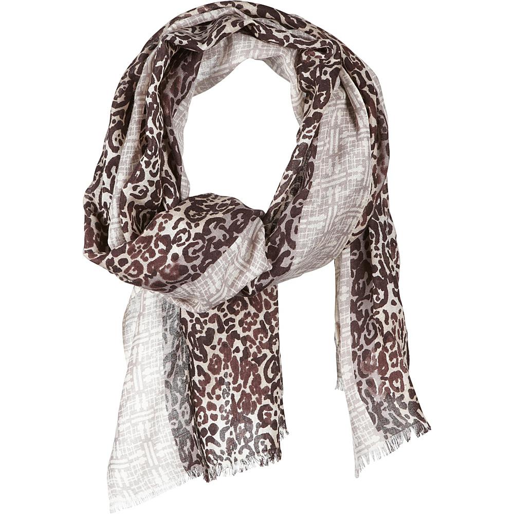 Kinross Cashmere Leopard Scarf Expresso Multi Kinross Cashmere Hats Gloves Scarves