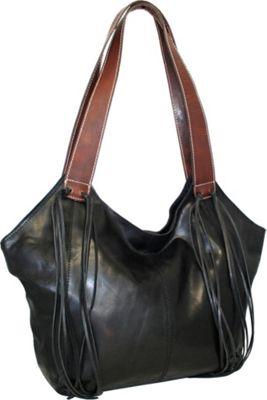 Nino Bossi Texas Two Step Tote Black - Nino Bossi Leather Handbags