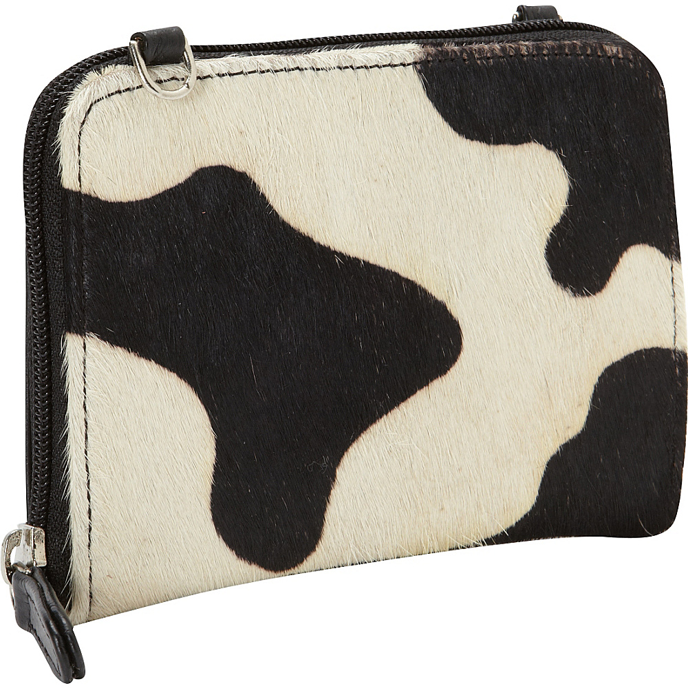 Scully Haircalf Crossbody Wallet White and Black Scully Women s Wallets