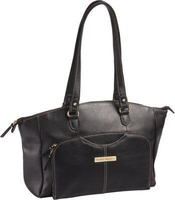 Clark & Mayfield Alder Leather 15.6  inch Laptop Handbag Black - Clark & Mayfield Women's Business Bags