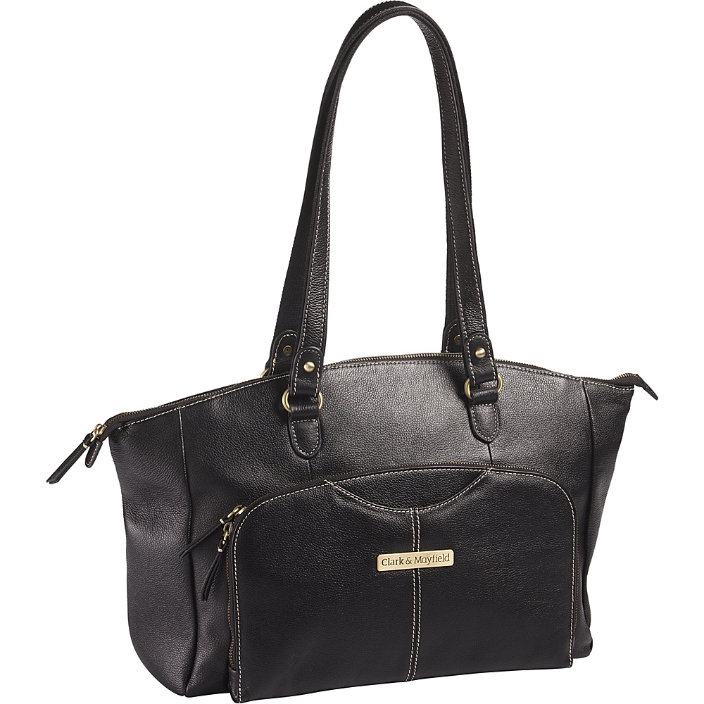 Clark Mayfield Alder Leather 15.6 Laptop Handbag Black Clark Mayfield Women s Business Bags