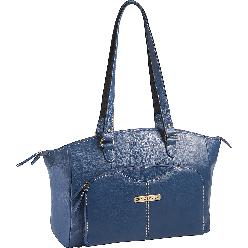 Clark Mayfield Alder Leather 15.6 Laptop Handbag Blue Clark Mayfield Women s Business Bags