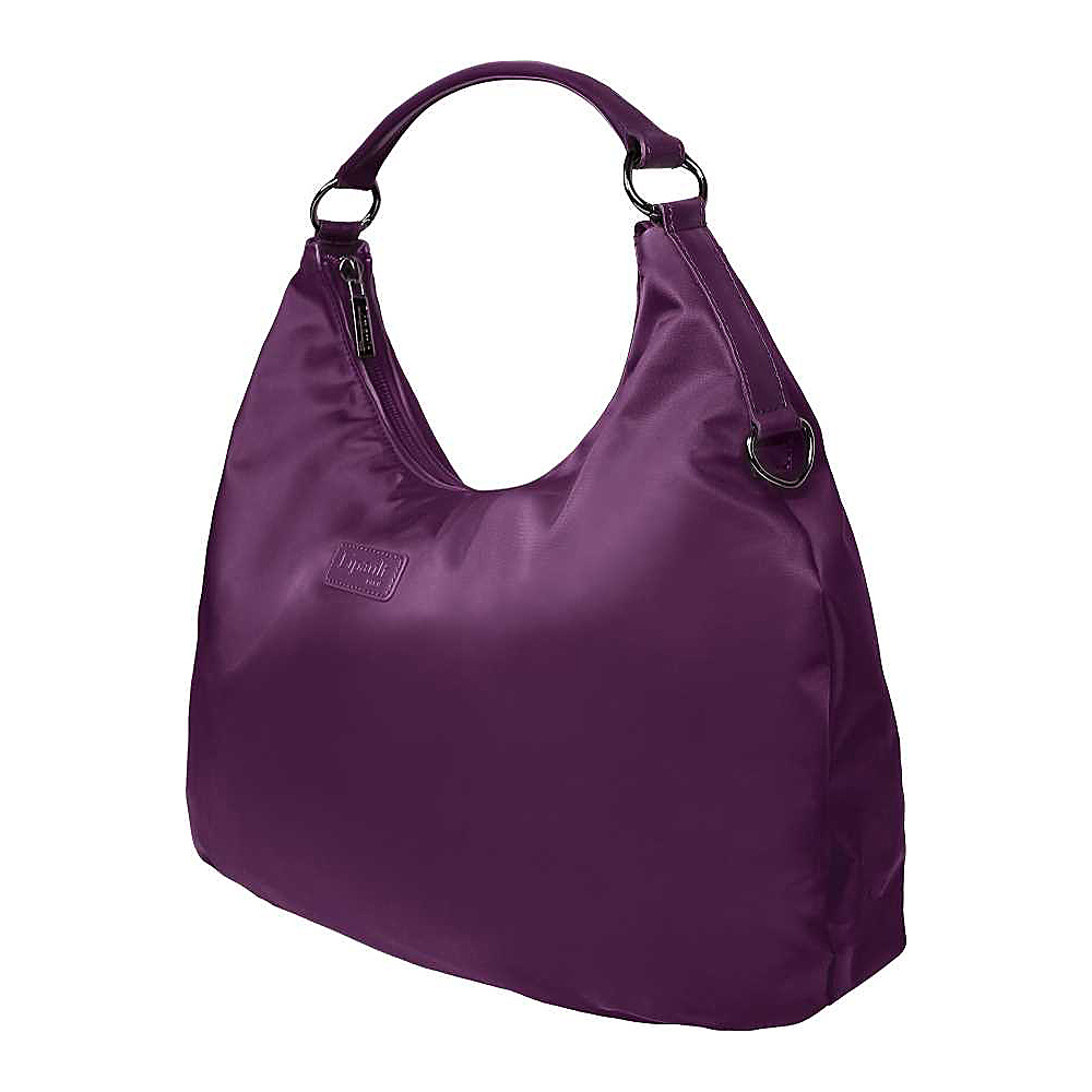 Lipault Paris Hobo Bag M Purple Lipault Paris Fabric Handbags