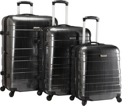 McBrine Luggage A736 ECO 3pc Set Two tone black - McBrine Luggage Luggage Sets