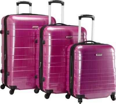 McBrine Luggage A736 ECO 3pc Set Two tone purple - McBrin...