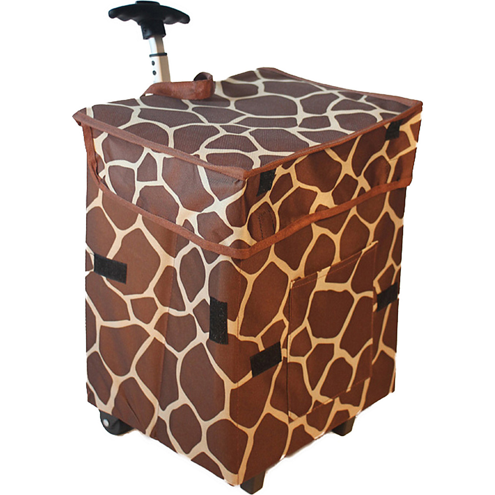 dbest products Gone Wild Cart Giraffe Pattern - dbest products Luggage Accessories