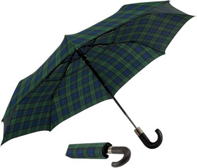 ShedRain Auto Open & Close Vented Compact Umbrella Blackwatch - ShedRain Umbrellas and Rain Gear