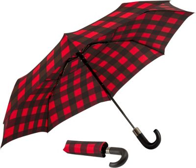 ShedRain Auto Open & Close Vented Compact Umbrella Buffalo Red - ShedRain Umbrellas and Rain Gear