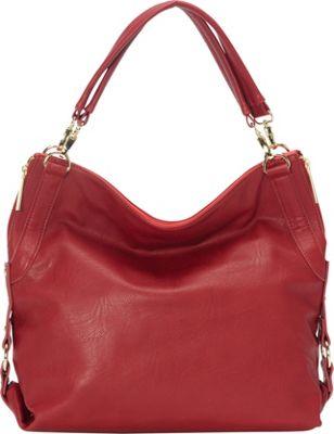 Olivia + Joy St. Monica Double Handle Shoulder Bag Sangria - Olivia + Joy Manmade Handbags