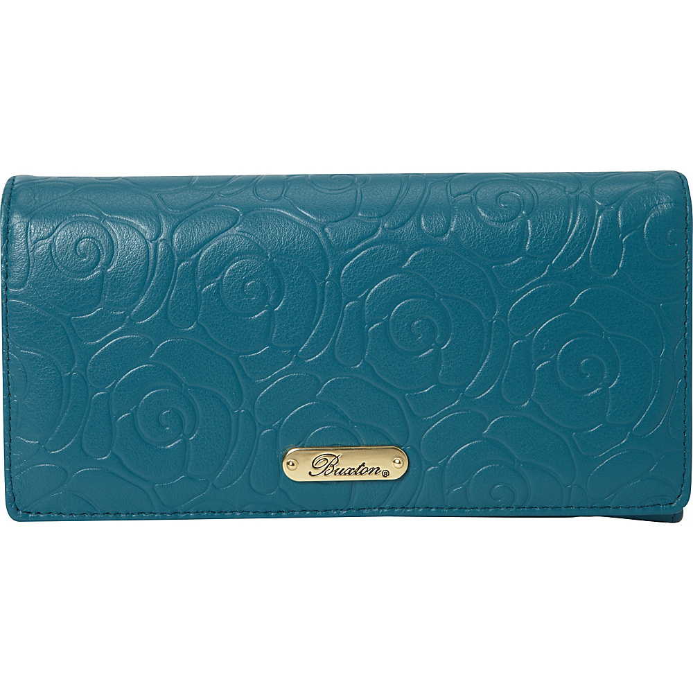 Buxton Rose Garden Expandable Clutch Dragonfly - Buxton Womens Wallets - Women's SLG, Women's Wallets