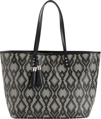 Image of b Luxe Medium London Tote Print Python - b Luxe Manmade Handbags