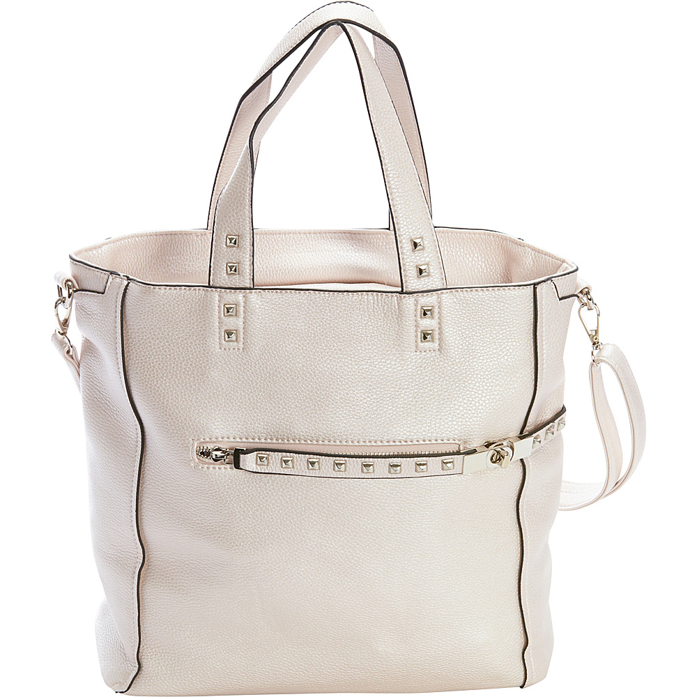 Diophy Studded Tote Silver Diophy Manmade Handbags