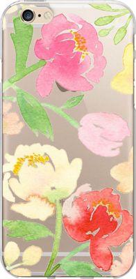 Centon Electronics OTM Clear iPhone SE/5/5S Case Artist Prints - Peonies Gone Bright - Centon Electronics Electronic Cases