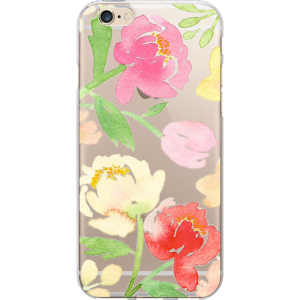 Centon Electronics OTM Clear iPhone SE 5 5S Case Artist Prints Peonies Gone Bright Centon Electronics Electronic Cases