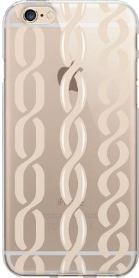 Centon Electronics OTM Clear iPhone 6 Case Hipster Prints - Champagne Links - Centon Electronics Electronic Cases