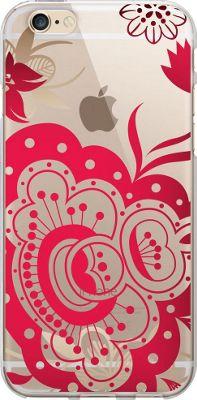 Centon Electronics OTM Clear iPhone 6 Case Paisley Prints - Red - Centon Electronics Personal Electronic Cases