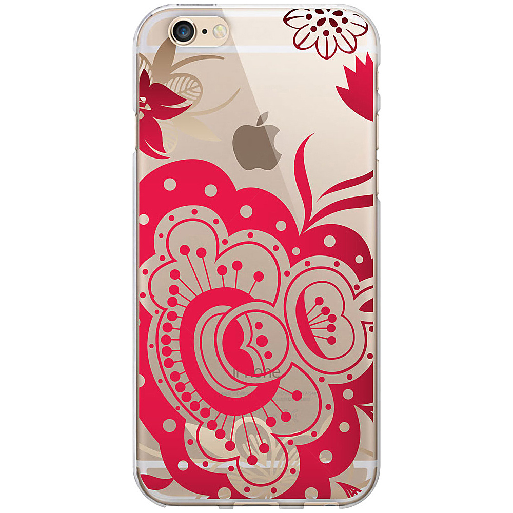 Centon Electronics OTM Clear iPhone 6 Case Paisley Prints Red Centon Electronics Electronic Cases